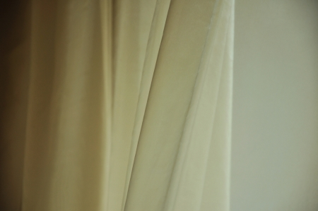 organza: The curtain on the window shakes his light draft of air Stock Photo
