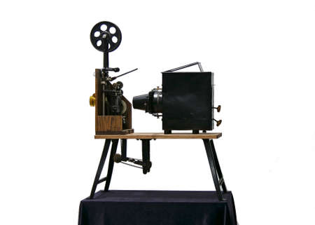 Old portable film projector, late 19th century