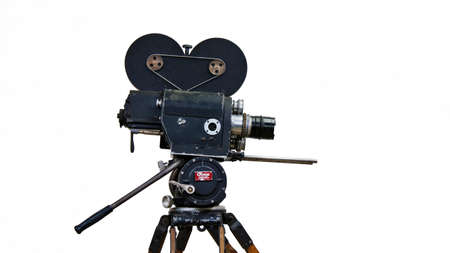 Vintage professional film camera from 1930-1940s Banco de Imagens
