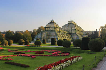 Vienna, Austria - October 12, 2015: Palmenhaus near of the Schonbrunn Palace in Vienna, Austria.