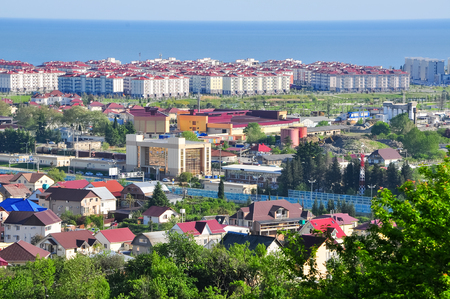 the view from the mountains in the Adler district of Sochi Stock Photo