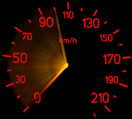 Tachometer full braking
