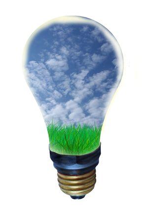 geodesy: clean energy Stock Photo