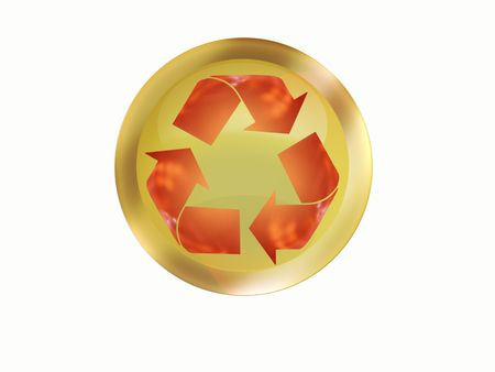 incandescent: recycle Stock Photo