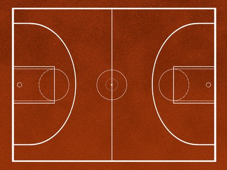 nba: basketball field Stock Photo