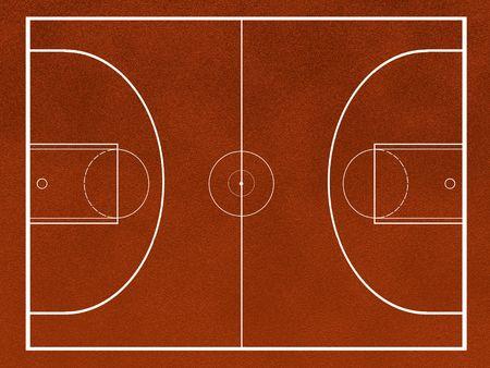 campo de baloncesto Foto de archivo - 4454582