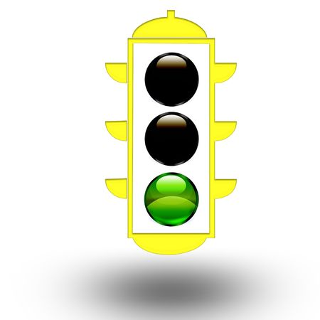 green traffic light Stock Photo - 4928745