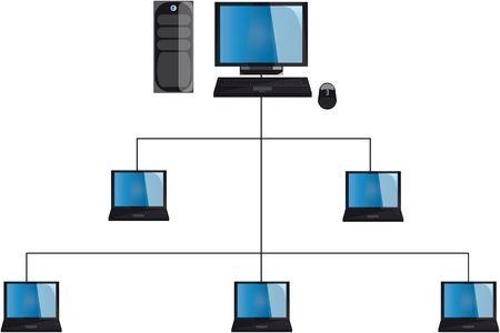 network pc Stock Photo