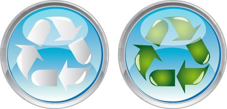 recycle button photo