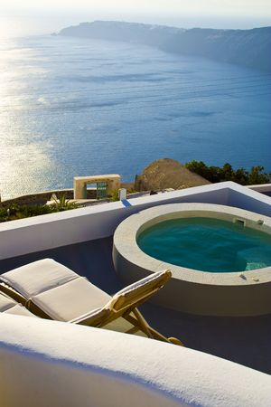 a detail of Santorini,greek island photo