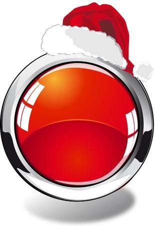 christmas web button Stock Photo - 8265873