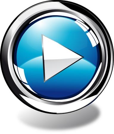 spielen: spielen Web button Lizenzfreie Bilder