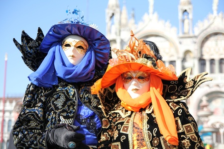Traditional mask in Venice, Italy photo