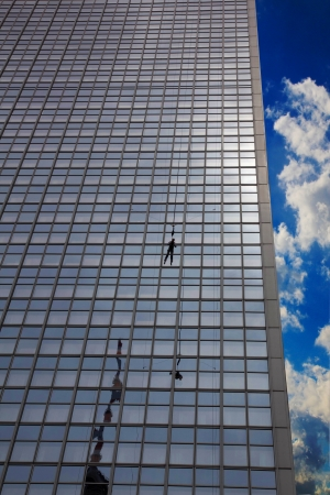 jumping from a building photo