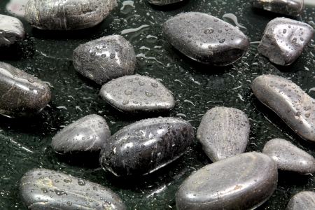 wellness and black stones photo