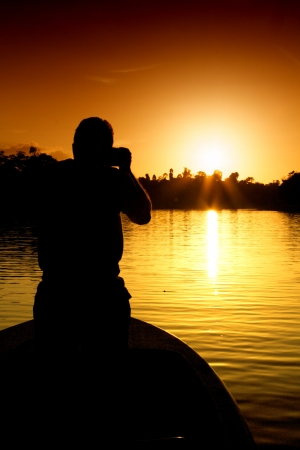 photographer on the sunset photo
