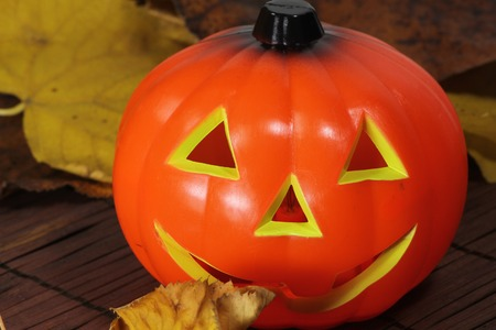cucurbit: a detail of an halloween pumpkin Stock Photo