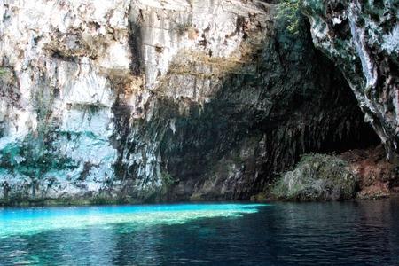 limnetic: Melissani cave,Kefalonia,Greece Stock Photo