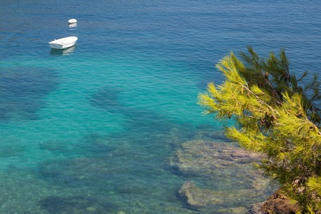 A view of Assos beach,Kefalonia,Greece photo