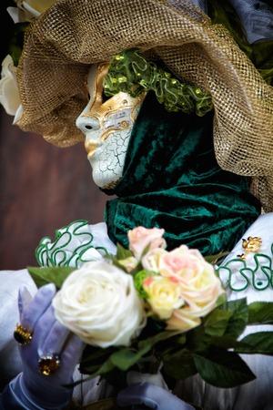 farce: A view of a Venice carnival mask