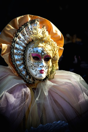 A view of a Venice carnival mask photo