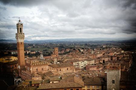 siena: a view of Siena,Italy