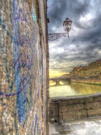 A view of Florence Old Bridge,Italy photo