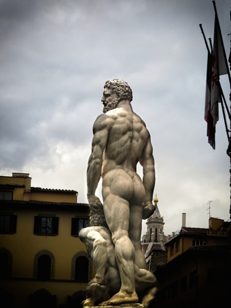 a view of the Signoria palace,Florence,Italy photo
