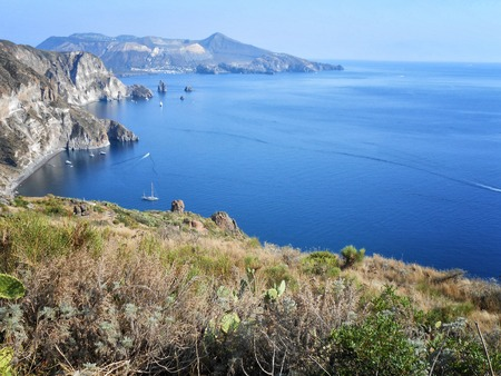 A view of Lipari beach, Sicily,Italy photo