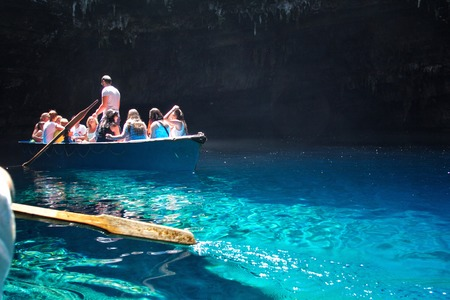 cefallonia: Melissani cave,Kefalonia,Greece Stock Photo