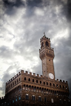 a view of the Signoria palace,Florence,Italy