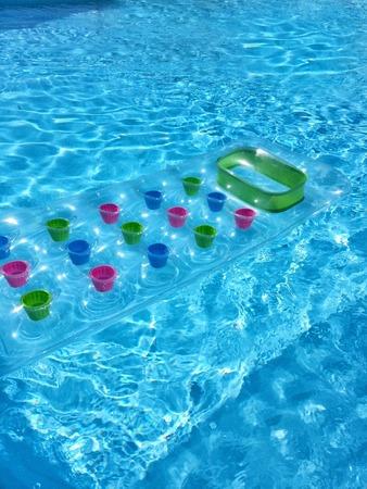 a detail of an water air mattress photo