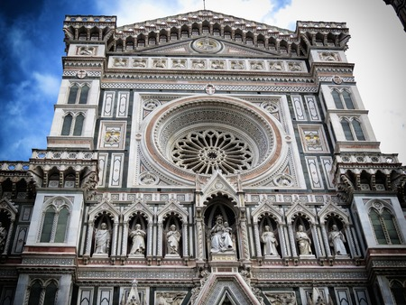 campanile: a view of Florence cathedral, Italy