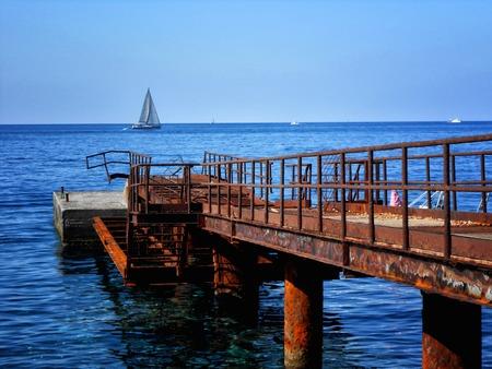 eolie: A view of Lipari beach, Sicily,Italy