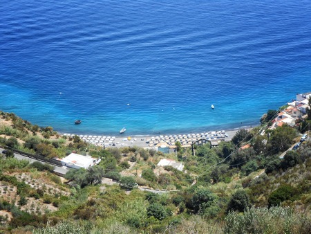 lipari: A view of Lipari beach, Sicily,Italy