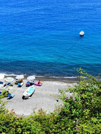 italien: A view of Lipari beach, Sicily,Italy