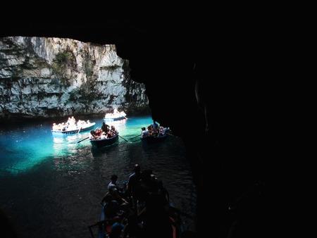 kefallonia: Melissani cave,Kefalonia,Greece Stock Photo