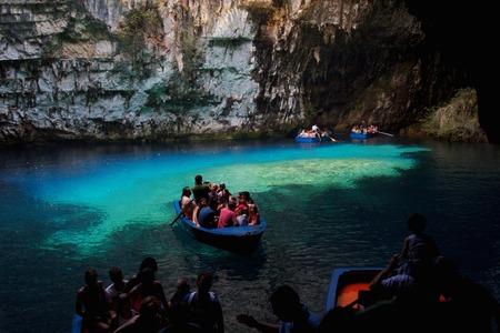 cefallonia: Melissani cave,Kefalonia,Greece Editorial