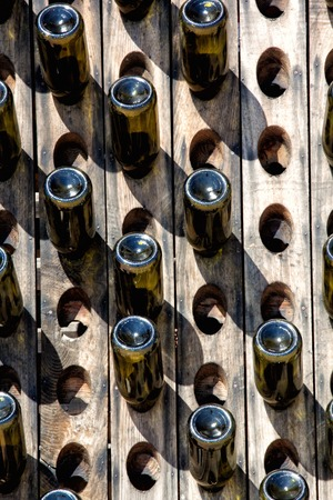 intoxicant: a view of some wine bottle