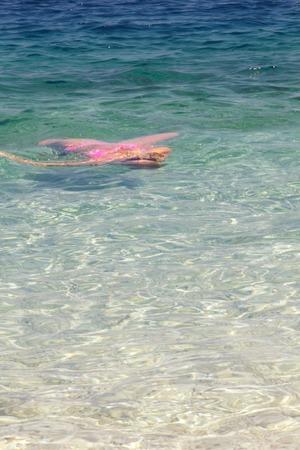 A view of a beach,Kefalonia,Greece photo