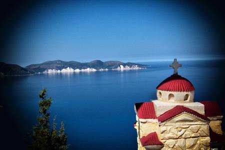 skiathos: A view of a beach,Kefalonia,Greece