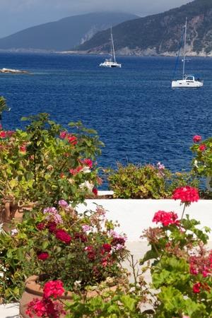 A view of Fiscardo beach,Kefalonia,Greece photo