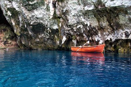Melissani cave,Kefalonia,Greece photo