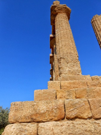 agrigento: Greek ruins in Valle dei Templi,Agrigento,Sicily,Italy