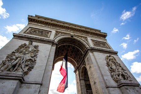 a view of the Champs Elysee,Paris photo