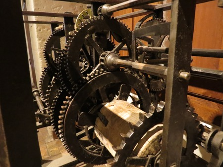 interlink: a view of antique gear Stock Photo