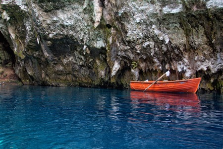 kefalonia: Melissani cave,Kefalonia,Greece Stock Photo