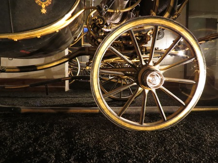 amish buggy: a view of a wheel buggy