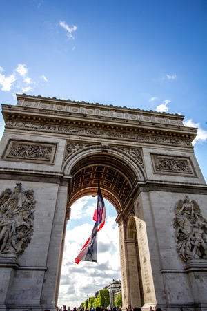 champs elysees quarter: a view of the Champs Elysee,Paris Stock Photo
