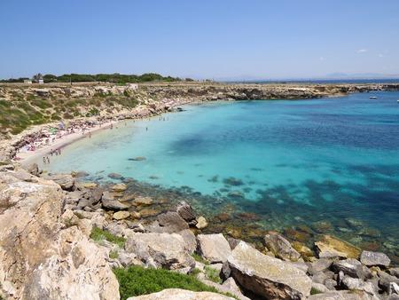 golfo: a view of the Favignana beach Sicily,Italy Stock Photo